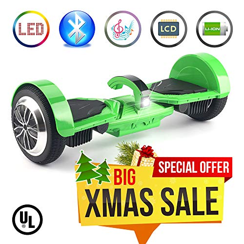 "Levit8ion Ultra 7.5"" Hoverboard - Self-Balancing 2 Wheel Electric Scooter - UL Certified with Detachable 20 Cell Samsung Battery, Carry Handle with Headlight, Bluetooth, App (Certified Refurbished)"
