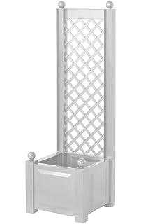 Bevorzugt KHW 37001 Spalier 100 x 43 x 140 cm, mit Pflanzkasten, weiß CY45