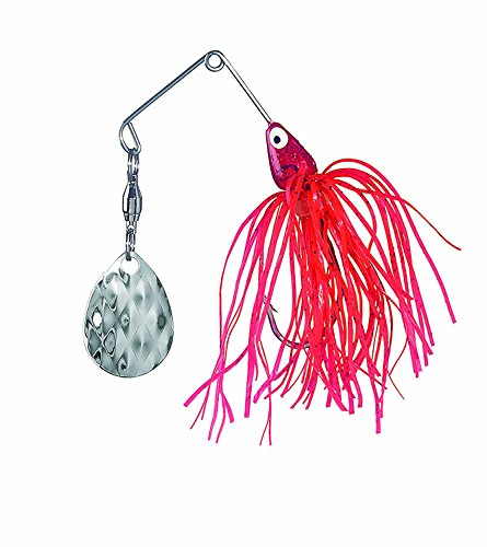 Strike King Mini-King Spinnerbait - Single Colorado Diamond Blade (Red Shad Head Red Shad Skirt, 0.125-Ounce) (Ounce 0.125 Lure)