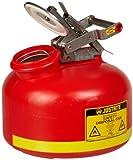 Justrite 14762 2 Gallon Capacity, 14 3/4'' H, 12'' O.D Polyethylene Disposal Can