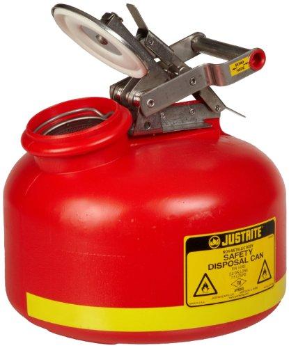 Disposal Cans - Justrite 14762 2 Gallon Capacity, 14 3/4