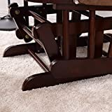 Costzon Baby Glider and Ottoman Cushion Set, Wood