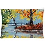 Etaovip Custom It Autumn Splendor Rectangular Decorative Cotton Polyester Pillow Case Cushion CoverInch Zipper Pillowcase ( 18*18 )