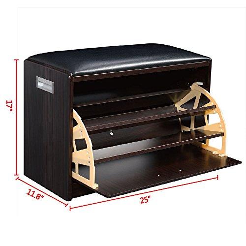 Single Tier Designer Locker (LTL Shop Wood Shoe Storage Bench Ottoman Cabinet Closet Shelf Multipurpose)