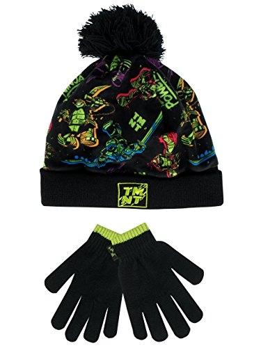 Teenage Mutant Ninja Turtles Hat (Teenage Mutant Ninja Turtles Boys' Ninja Turtles Hat and Gloves Set Size 3 - 6 Years)