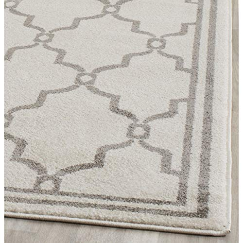 Safavieh Amherst Collection AMT414K Geometric Area Rug, 6 x 9 , Ivory Grey