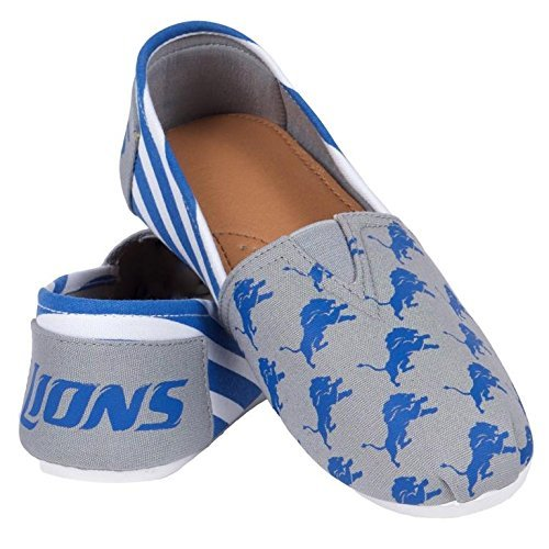 Collectibles NFL Slip Canvas Lions Summer Stripes Forever On Football Pick Ladies Shoes Detroit 2015 Womens Team dwaqqBS