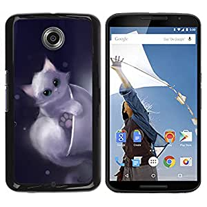 iBinBang / Funda Carcasa Cover Skin Case - Gatito lindo Dibujo Animal doméstico dulce Furry - Motorola NEXUS 6 / X / Moto X Pro