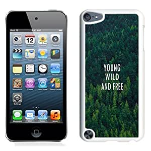 NEW Unique Custom Designed iPod Touch 5 Phone Case With Young Wild And Free Forest Pattern_White Phone Case