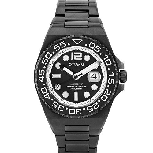 Otumm Scuba Unisex Reloj con Calendario 45mm 30ATM SCMBL45-001: Amazon.es: Relojes