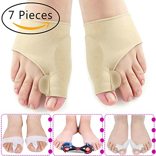 Showbellia Bunion Corrector & Bunion Toe Relief Protector Sleeves Kit - Pain in Hallux Valgus, Tailors Bunion, Big Toe Joint, Toe Separators Spacers Straightener Splint - Orthosis Adjuster (Orthosis Kits)