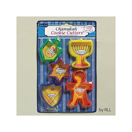 Chanukah Cookie Cutters - 5 Shaped - Cookie Hanukkah