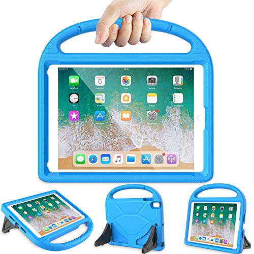 LEDNICEKER Kids Case for iPad 9.7 2018/2017 - Light Weight Shock Proof Handle Friendly Convertible Stand Kids Case for The Apple iPad 9.7 5th & 6th Generation Previous Model - Blue (2 Up Cases Stand Ipad That)