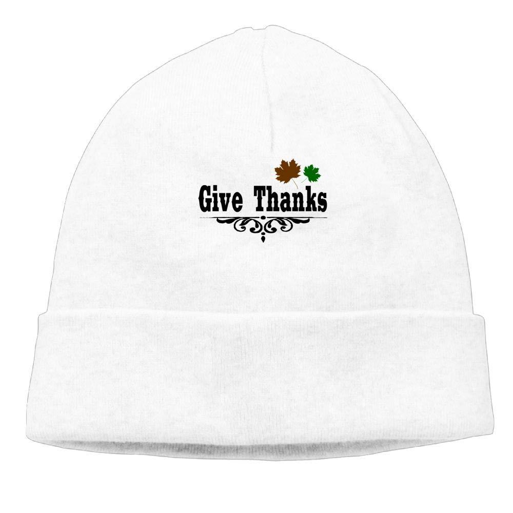 Oopp Jfhg GIVE Thanks Beanies Knit Hats Skull Cap Unisex