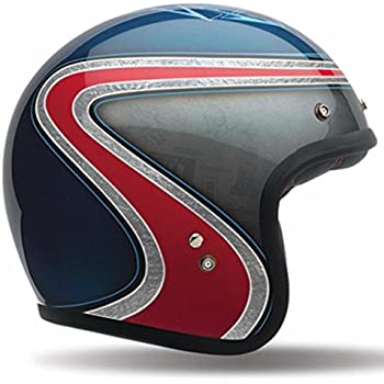 Bell Custom 500 SE Open Face Motorcycle Helmet (Airtrix Heritage Blue/Red, Medium) (Non-Current Graphic)