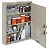 STEELMASTER Large Medical Security Cabinet, Dual Locks, 14 x 17.13 x 3.13 Inches, Sand (2019065D03)
