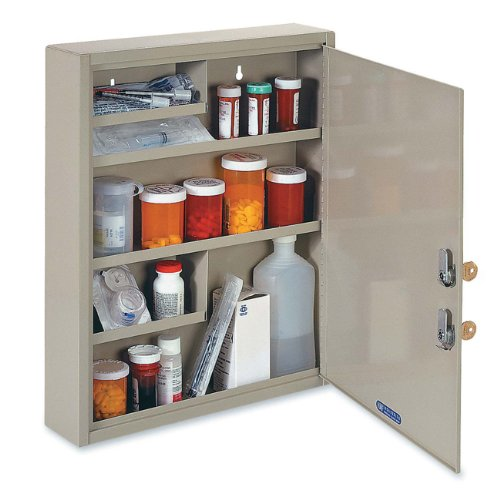 (STEELMASTER Large Medical Security Cabinet, Dual Locks, Sand (2019065D03))