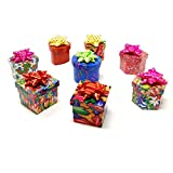 Square, Heart, Hexagon & Circle Shaped Jewelry Gift Boxes Various with Assorted Patterns & Bows, 240 Pack