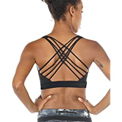aed460bd02c icyzone Sports Bras for Women - Activewear Strappy Padded Wor ... $9.79 · icyZone  Workout Clothes Racerback Yoga ...