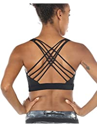 Sports Bras for Women - Activewear Strappy Padded Workout Yoga Tops Bra