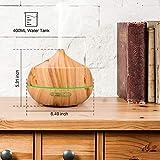 RENWER Essential Oil Diffuser, 400ml Wood Grain
