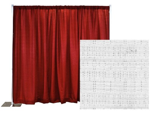 Break Apart Pipe and Drape Banjo Backdrop Kit 8 ft. x 10 ft. - Snow White by P.D.O. (Image #7)