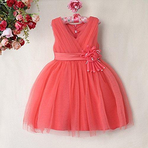 Diseño floral de color Coral, rosa, de color crema, rosa, morado, rojo, blanco o vestido de dama de honor de color marfil, diseño de chica con diseño de ...