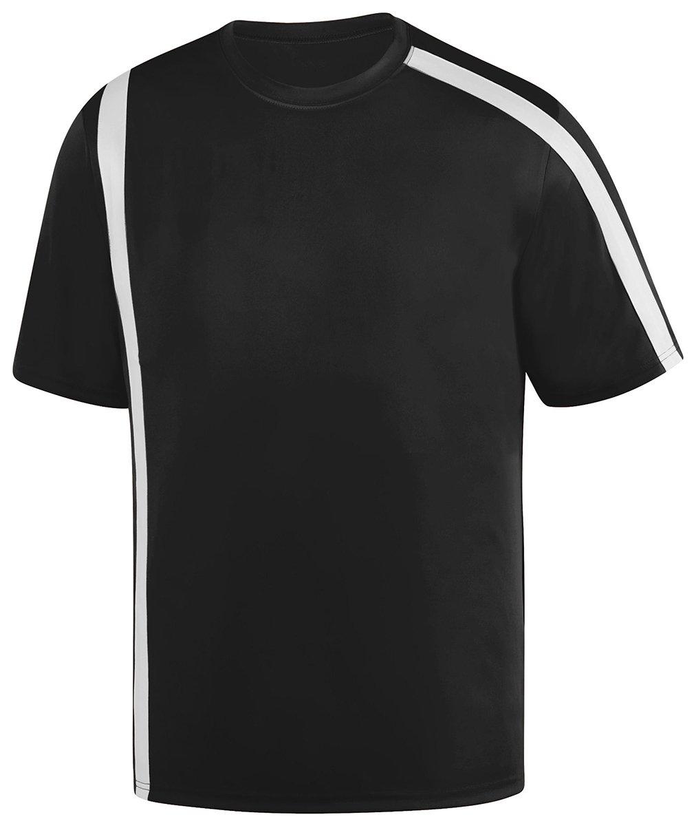 Augusta SportswearメンズAttacking Third Jersey B01DQ7GW6O Large|ブラック/ホワイト ブラック/ホワイト Large