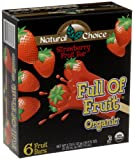 Natural Choice Foods Organic Frozen Strawberry Fruit Bars, 6-Count, 16.5-Ounce Boxes (Pack of 3)