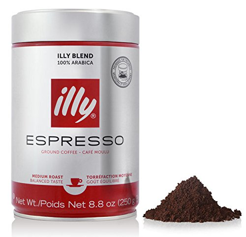 illy Caffe Normale Fine Grind (Medium Roast, Red Band) 8.8 coffee cans (Pack of - Grind Roast Medium