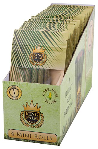 (24PC DISPLAY - King Palm Hand Rolled Leaf - Mini)