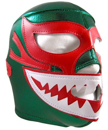 [MIL MASCARAS SHARK Adult Lucha Libre Wrestling Mask (pro-fit) Costume Wear - Green] (Custom Wrestling Costumes)