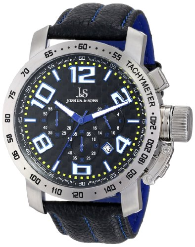 Joshua & Sons Men's JS49BU Analog Display Japanese Quartz Black Watch