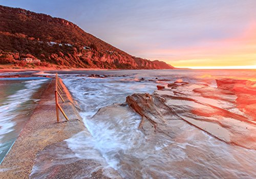 Sea Beach Sunset Landscape Photography Poster print A4 - A3 Photo picture Nature Wall
