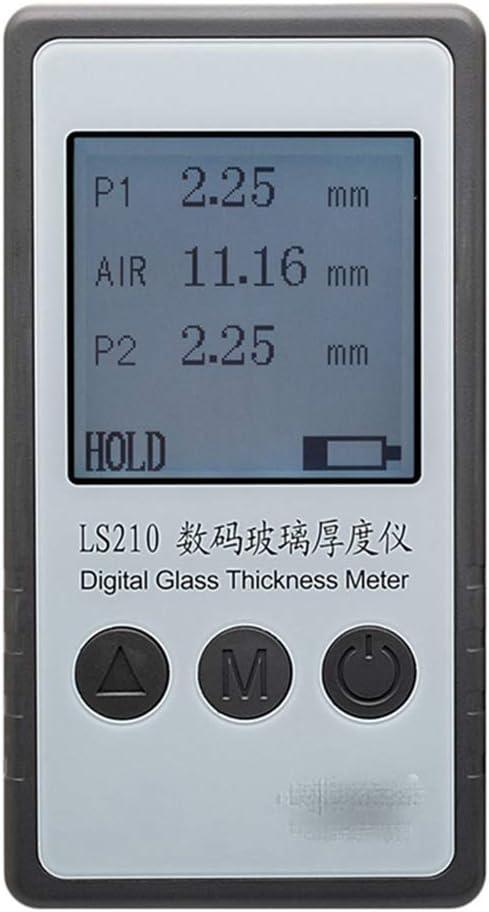 LHQ-HQ Digitales LS210 Glasdickenmessger/ät LED Luftzwischenschicht Meter Doppelglasst/ärke-Detektor mit Skala von Glasdicke 60 mm Luftraeume 35mm