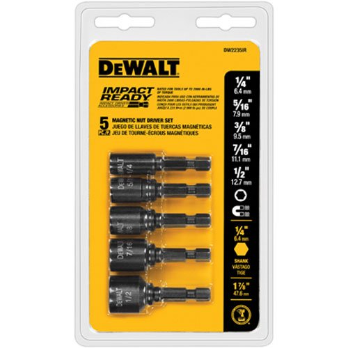 Dewalt DW2235IR 5 Pc Impact Ready Magnet Nut Driver Set