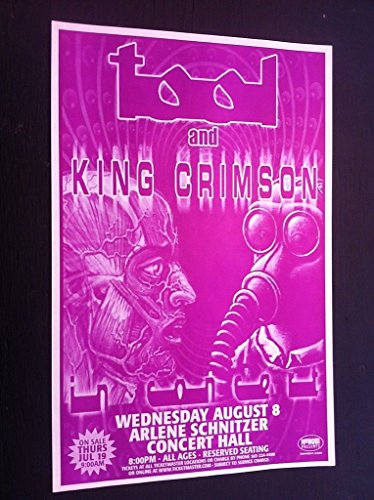 Tool King Crimson Maynard James Keenan Robert Fripp Gig Flyer Concert Poster from ConcertPosterArt