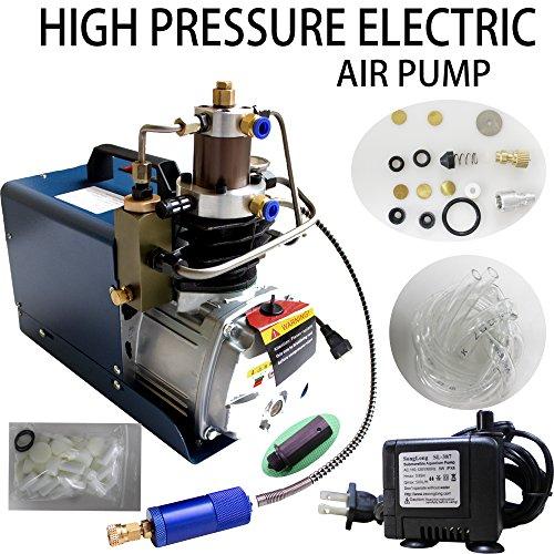 Preset Shut Off 110V 4500psi Air Compressor Auto Stop PCP Compressor 30Mpa High Pressure Air Compressor for PCP Rifles Paintball Guns Airguns (Auto Shut Off)