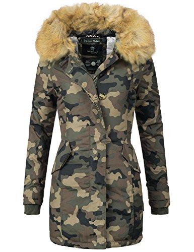 Marikoo Karmaa Veste d'hiver pour Dame XS-5XL 15 Couleurs XS-XXL Camouflage