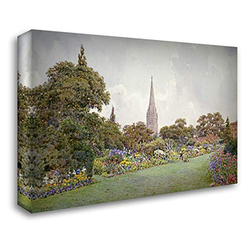 Mrs. Jacobs Garden 40x28 Gallery Wrapped Stretched Canvas Art by Rowe, Ernest Arthur