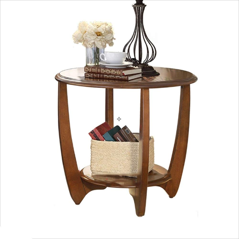 Ljf Home Simple Coffee Table Round Sofa Side Table Small