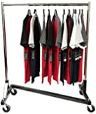 """Only Hangers Small Commercial Grade Rolling Z Rack with Nesting Black Base - 41"""" Length"""