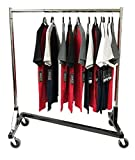 Only Hangers Small Commercial Grade Rolling Z Rack with Nesting Black Base (41'' Length)