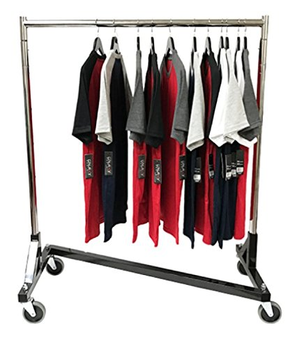 Only Hangers Small Commercial Grade Rolling Z Rack with Nesting Black Base (41