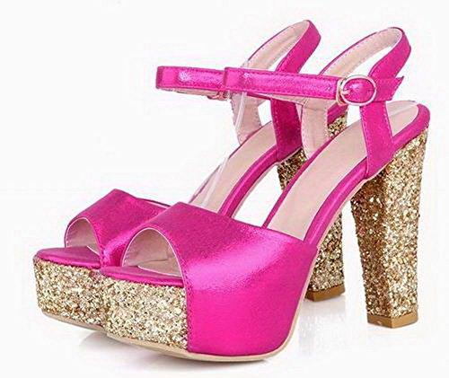Gmxlb009461 hak sandalen sandalen en hoge effen dameshoge roze met Agoolar qBwIU8A