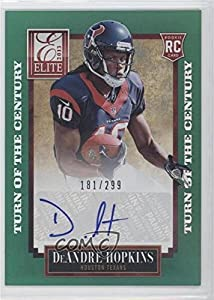 DeAndre Hopkins #181/299 (Football Card) 2013 Panini Elite - [Base] - Turn of the Century Rookie Signatures [Autographed] #125