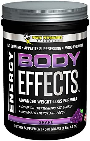 Power Performance Products Body Effects - the Ultimate Weight Loss, Fat Burning, Energy Boosting, Appetite Suppressing, Mood Enhancing and Muscle-Defining Supplement - Grape - 570 Grams