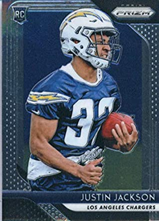 2018 Panini Prizm Football  291 Justin Jackson Rookie RC Rookie Los Angeles  Chargers Official NFL 5e3acd469