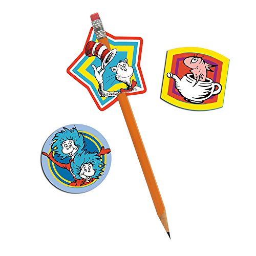 EUREKA DR SEUSS LENTICULAR PENCIL TOPPER (Set of 24) by Eureka