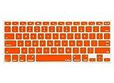 Kuzy ORANGE Keyboard Cover Silicone Skin for MacBook Pro 13